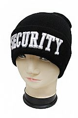 Security Embroidered Cuffed Beanie