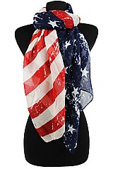 Fashion Vintage Look American Flag Scarves & Wraps