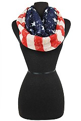 American Flag Vintage Looking Infinity Scarves