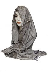 Pearl Beaded Gold Decor Glitter Sparkle Shiny Shimmer Hijab Scarf Shawl Wrap