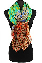Block Leopard Pattern Scarves