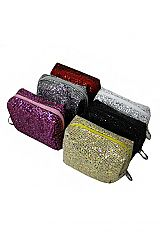 Mini Cube Pouch Chunky Squared Glittered Coin Bags