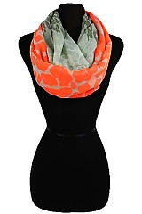 Color Block Animal Pattern Infinity Scarves
