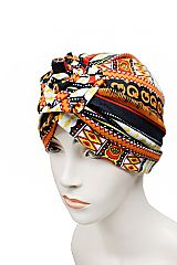 Tribal Pattern Turban Beanie & Head wrap