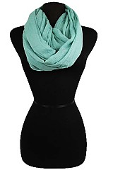 Solid Color Soft Infinity Scarves