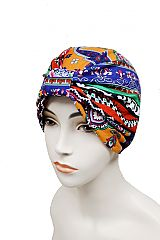 Aztec Pattern Turban Beanie & Head wrap with Big Bow
