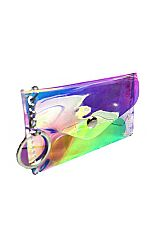 Mini Key Chain Coin Money Iridescent Bag
