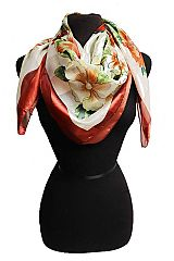 Colorful Floral Chiffon Square Scarves