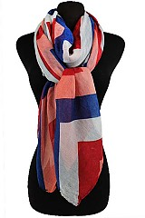 Chevron Pattern Soft Scarves