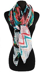 Color full Retro Chevron Pattern Scarves