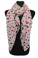 Infinite Heart Shaped Print Square Scarves