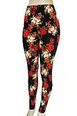 Bundled Valley Of Spring Blossom Florals Printed Soft Touch Leggings