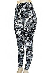 Exotic Safari Leaves And Florals Printed Soft Touch Leggings