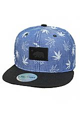 Denim Linen Marijuana Urban Wear Snap Back