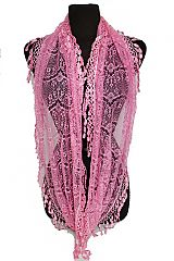 Chandelier Tear Drop Lace Infinity Pattern Scarves