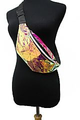 Laser Geometric Diamond Luminous Women Fanny Packs