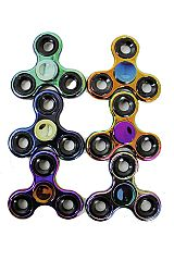 Rainbow Metal Look Fidget Spinner