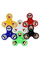 Emoji Design Glow in the dark Hand Spinner Fidget Toys