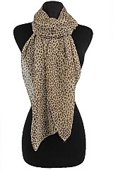 Soft And Silky Scarves with Small Leopard Pattern