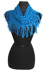Tunnel Half Hole Knit Knitted Design Mini Magic Scarves