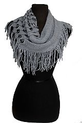 Hole Pattern Knitted Design Mini Magic Softness Scarves