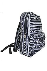 Boho Hipster Printed Dome Zip Closure Backpack