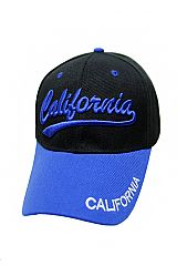 "Cursive Lettered ""California"" Embroidered Six Panel Baseball Hat"