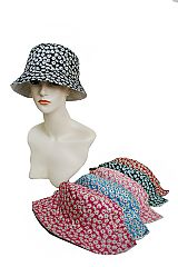 Itty Bitty Spring Blossomed Daisies Cotton Traveling Hat