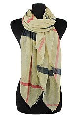 Plaid Pattern Softness Long Regular Scarf