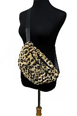Ultimate Luxury Faux Fur Leopard Dyed Fanny Pack