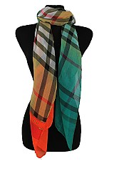 Plaid Pattern Colorful Softness Regular Scarf