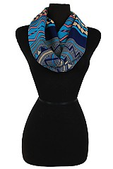 Multiple Zig Zag Pattern Softness Infinity Scarf