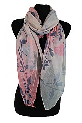 Natural Pattern with Butterfly design soft Scarf