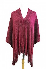 Cashmere Feel with Sequence Super Softness Thick Poncho