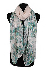Natural Pattern with Butterfly softness Scarf