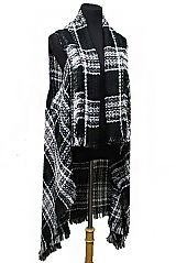 Shimmered Silver Threaded Blanket Extra Soft Long Cardigan Style
