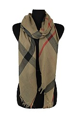 Large Plaid Designer Inspired Softness Scarf