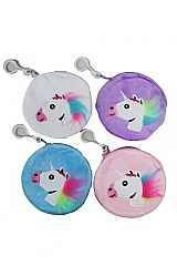 Round Soft Pouch Coin Bags With Unicorn Design
