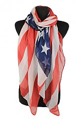 American Flag Original Color Regular Scarf