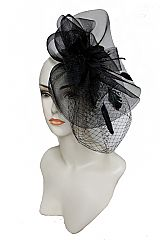 Floral Center Dot Point Tulle Base Fascinator Head Band