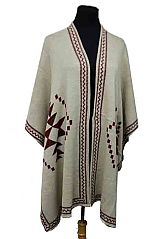 Aztec Pattern Loads Of Thickness Poncho