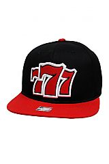 Triple Seven Embroidered Two Tone Snap Back