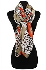 Chain and Animal Pattern Soft Scarves