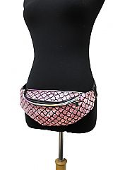 Mermaid Tail Scale Multi Metallic Fanny Waist Bag