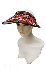 Luxury Floral Summer Vibes Printed Fabric Visors