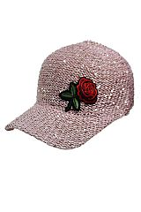 Sequin Meshed With Itty Bitty Rose Patch Cap
