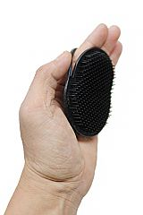 Black Pocket Hair Brush Men Travel Comb Styler