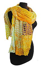 Scrunched Iron Pressed Multi Color And Printed Softness Scarves