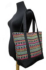 Navajo Boho Printed Canvas Cotton with Tote Bag