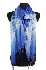 Undefined Animal Printed with Color Contrast Softness Scarves